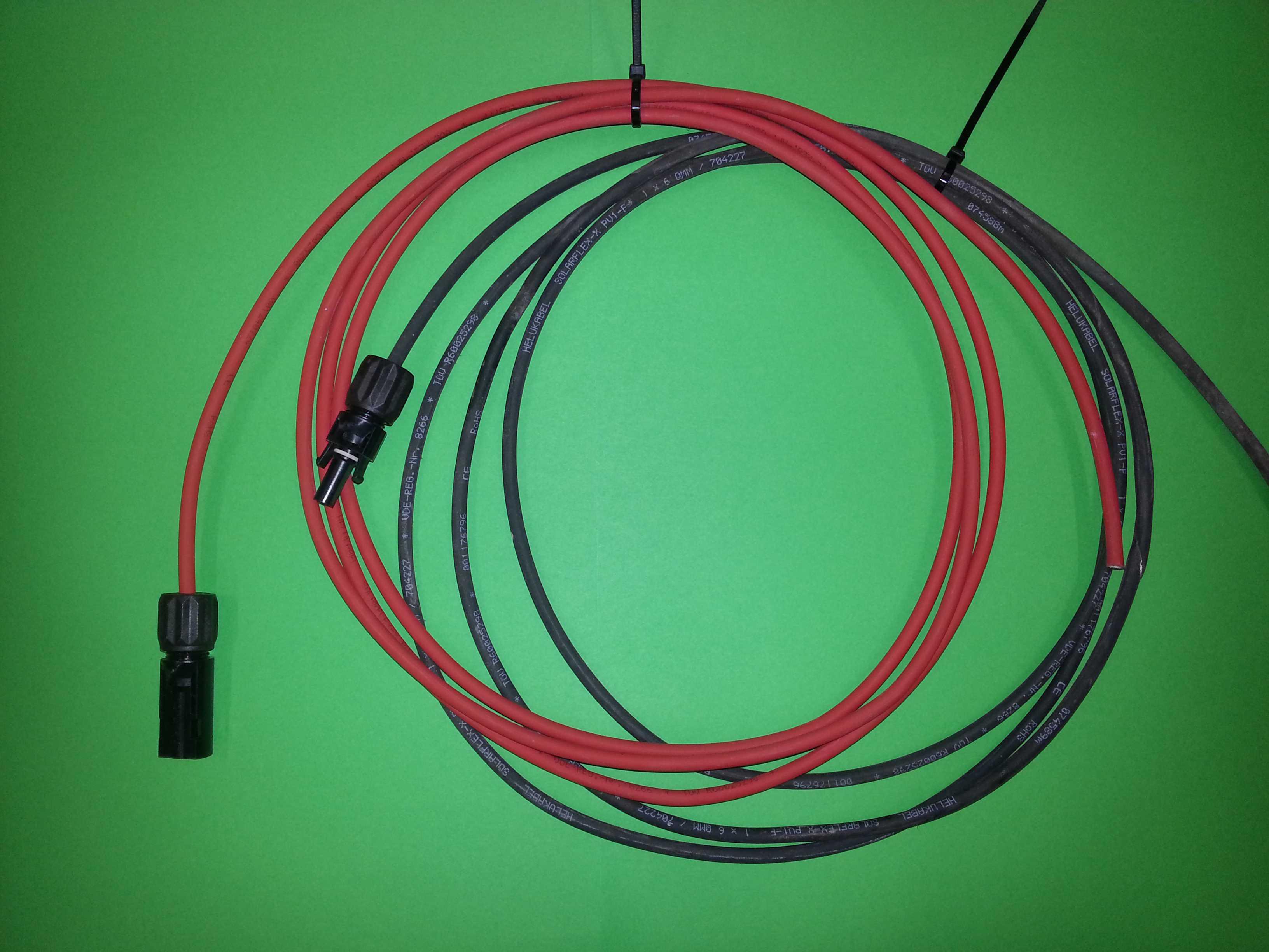 anschlusskabel 6mm 1m 25m solarkabel pv kabel mc4. Black Bedroom Furniture Sets. Home Design Ideas